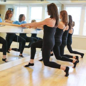 Barre workout at Balance Studio